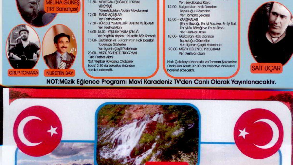 2. Tomara Şelalesi Kültür ve Turizm Festivali